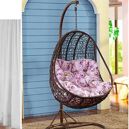 En forma de huevo de mimbre cesta colgante silla colgante for Sillas colgantes para jardin