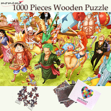 MOMEMO Luffy and His Companions Wooden Puzzle One Piece Jigsaw 1000 Pieces Puzzles Cartoon Puzzle Games for Adults Childen Toys puzzle therapist one a day sudoku for the utterly obsessed large print puzzles for adults