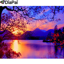 DIAPAI 100% Full Square/Round Drill 5D DIY Diamond Painting Sunset scenery Embroidery Cross Stitch 3D Decor A21012