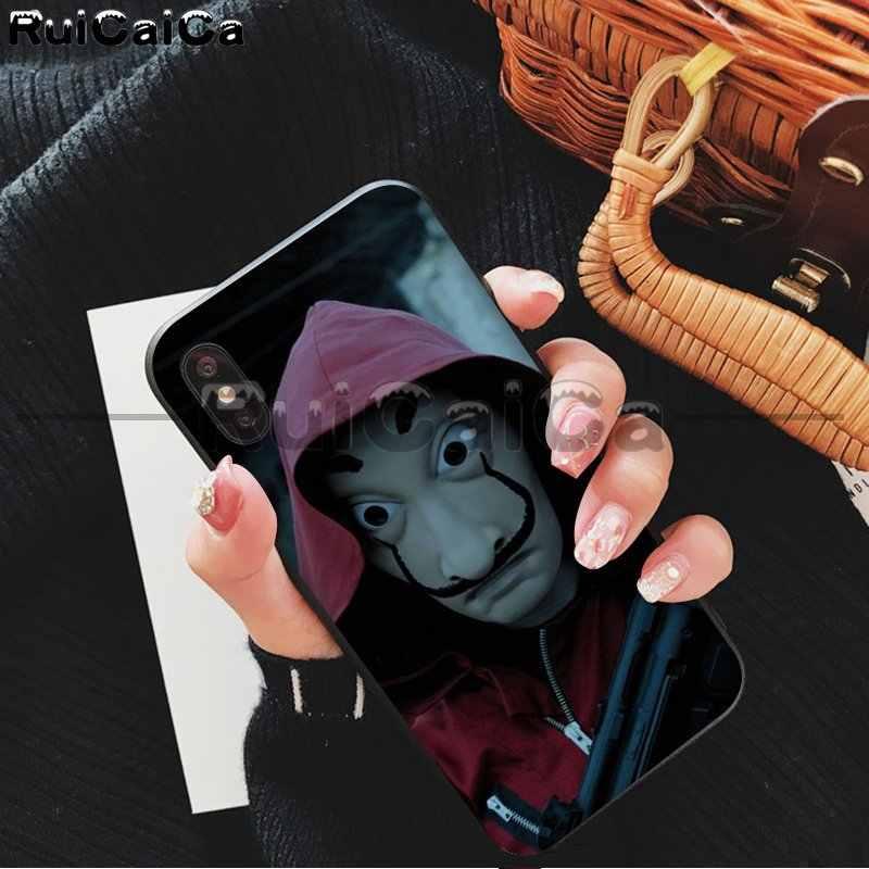 RuiCaiCa Spain TV La Casa de papel DIY Painted Beautiful Phone Case for Apple iPhone 8 7 6 6S Plus X XS MAX 5 5S SE XR Cases