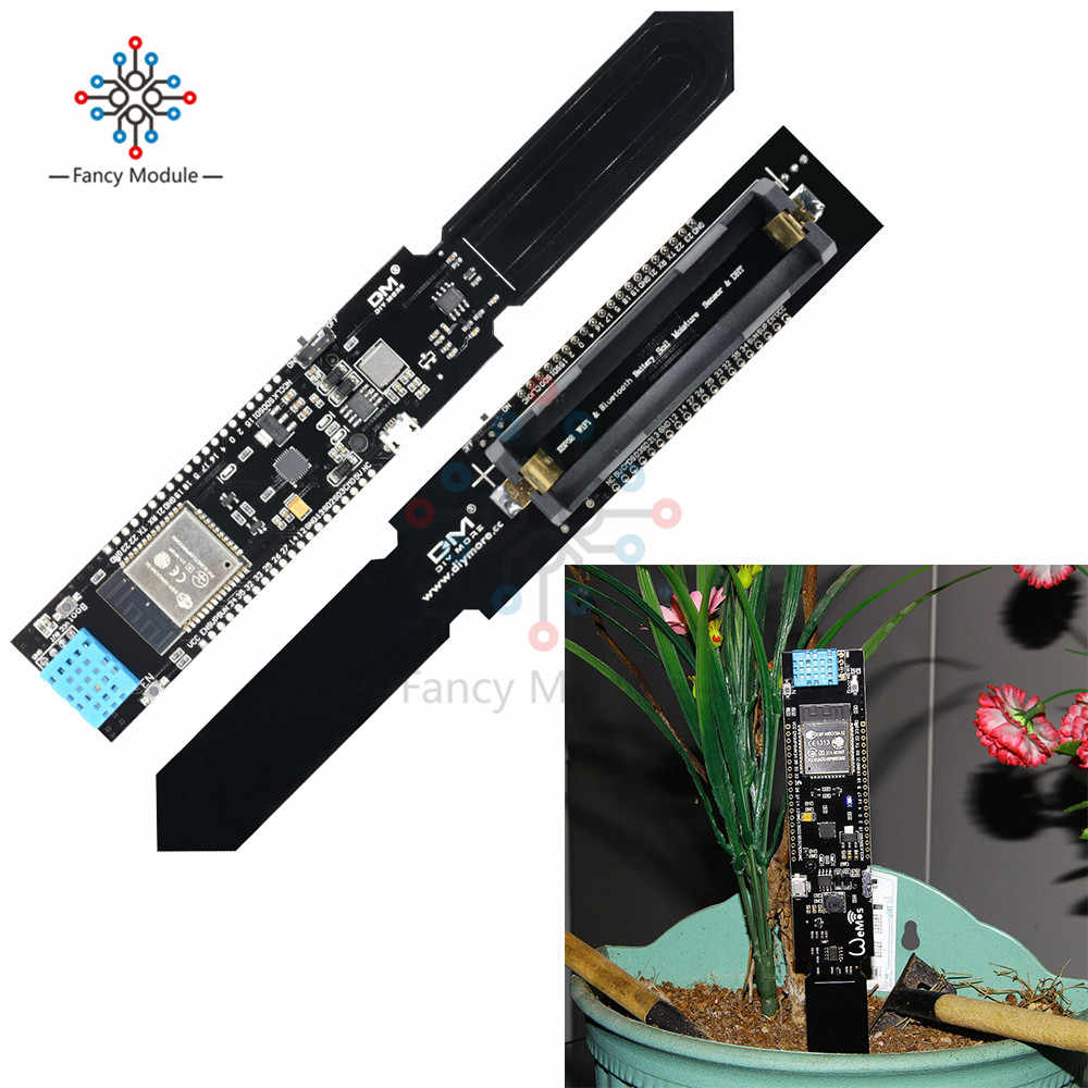 ESP32 CP2104 WIFI Bluetooth DHT11 Temperature Humidity Soil Moisture Sensor Detection Module for Arduino 18650 Battery Shield