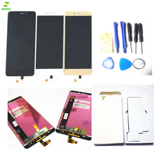 ФОТО full lcd unit touch sqare for xiaomi redmi note 4 lcd display+touch screen digitizer assembly black gold color replacement