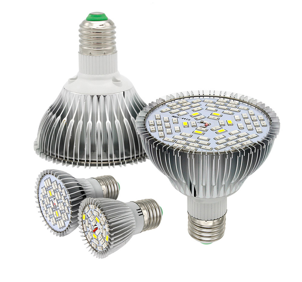 Full Spectrum LED Grow Light E27 85-265V SMD 21-500LEDs  5W 15W 40W 80W Red/Blue/White/UV/IR  For Greenhouse Hydroponic Plant