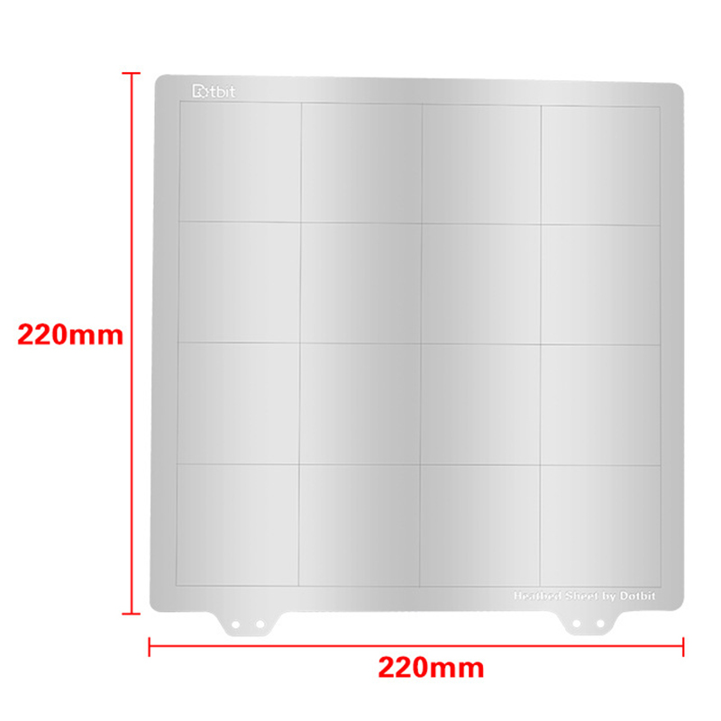3D Printing Accessories Prusa I3 220X220Mm Hot Bed Platform Steel Plate Magnetic Sticker B Surface Pei For Wanhao Anet A8 in 3D Printer Parts Accessories from Computer Office