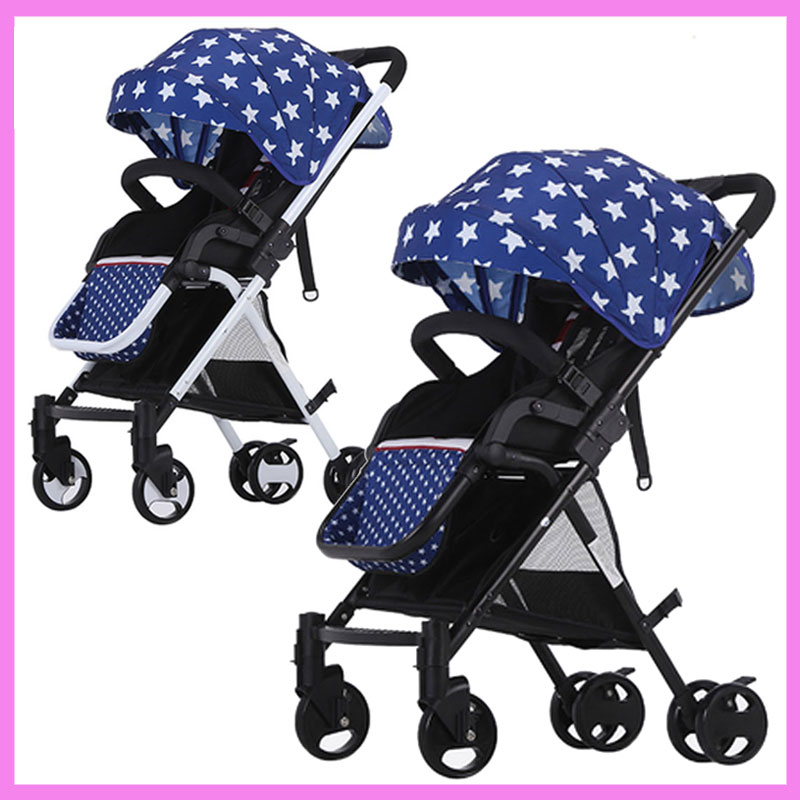 Lightweight Folding Portable Print Baby Cart Can Sit Can Lie Umbrella Car Baby Stroller Buggy Pram Pushchair 0~36 M shivaki ssh i127be srh i127be
