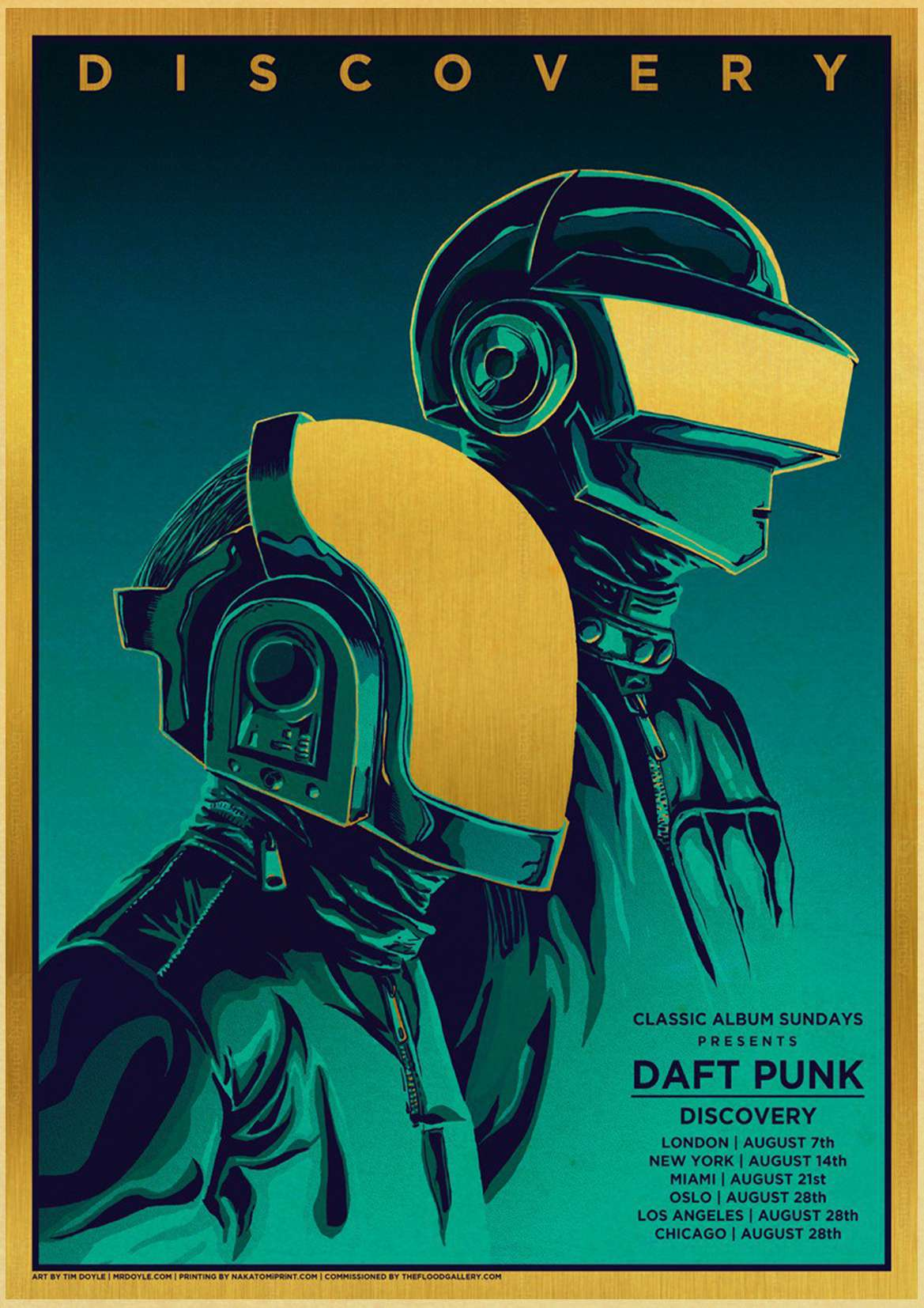 US $1 81 11% OFF|The Daft Punk rock music band Poster Wall Stickers Vintage  Poster Prints High Quality For Bar And Home Decor-in Painting &