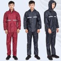 Rainfreem Impermeable Raincoat Split Hood Rain Poncho Waterproof Rain Jacket Pants Suit Men women