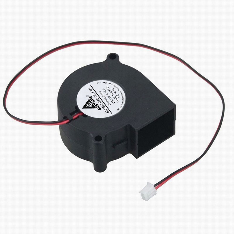 Gdstime 1 piece 60x28mm Cooling Cooler Brushless Exhaust Blower Fan DC 12V 2 Wire 60mm 2Pin 6028 Sleeve-bearing New gdstime 5pcs 12cm big fan 120mm x 32mm 120mm blower fan 12v ball bearing dc brushless cooling cooler 120x32mm 2 pin