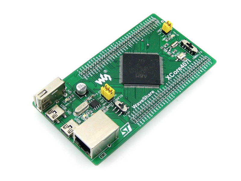 Waveshare XCore407I Cortex-M4 STM32 Development Board Core STM32F407IGT6 With IOs, USB, Ethernet, NandFlash