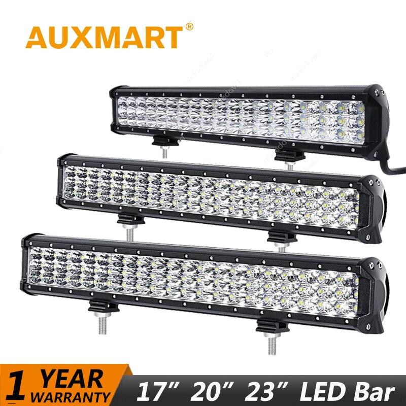 Auxmart 23 288W 20 252W 17 216W LED Light Bar Offroad Working Lamp LED Work Light Combo Beam LED 12V 24V ATV 4x4 Wagon SUV auxmart triple row led chips 12 led