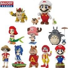 Balody Mini Blocks Big Size Mario DIY Building Toys Large One Piece Bricks Cute Auction Juguetes for Kids Toys 16001-16009