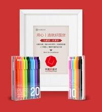Xiaomi mijia caneta kaco 0.5mm pura, 10 cores 20 cores gel caneta de toque macio caixa de presente colorido caneta de sinal