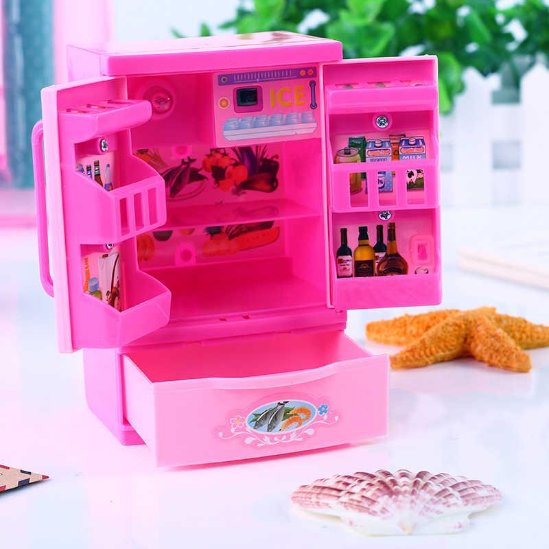 1 Pcs Kawaii Berpura-pura Bermain Mini Simulasi Dapur Mainan Light-Up & Suara Pink Peralatan Rumah Tangga Mainan untuk Anak-anak anak Bayi Gadis