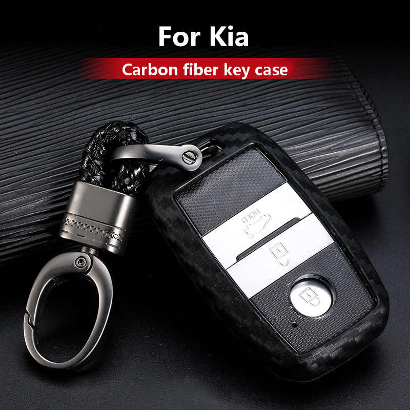 2019 nueva funda de gel de sílice de fibra de carbono para Kia Forte Niro Optima Sedona Sorento