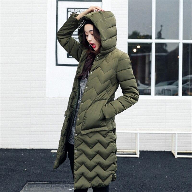 Parkas army La Long Veste black Femme claret Femmes Hiver Manteau À 2017 gray Green Bas Capuchon Plus Dame Le Taille Manteaux Coton Khaki Mince Vers C0t1Iq