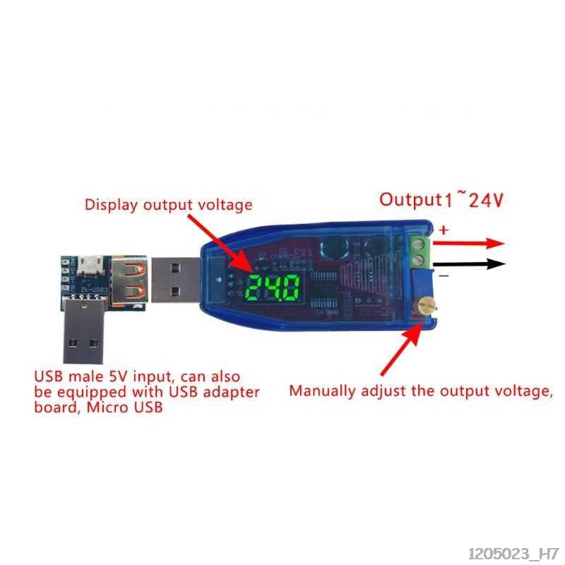 DC-DC 5V 1 V-24 V Módulo de voltaje ajustable módulo de fuente de alimentación Boost convertidor Step-up Step-down