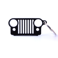 New Arrival Fashion Stainless Steel Colorful Grill Key Chain Car Key KeyChain KeyRing Perfect Gift For