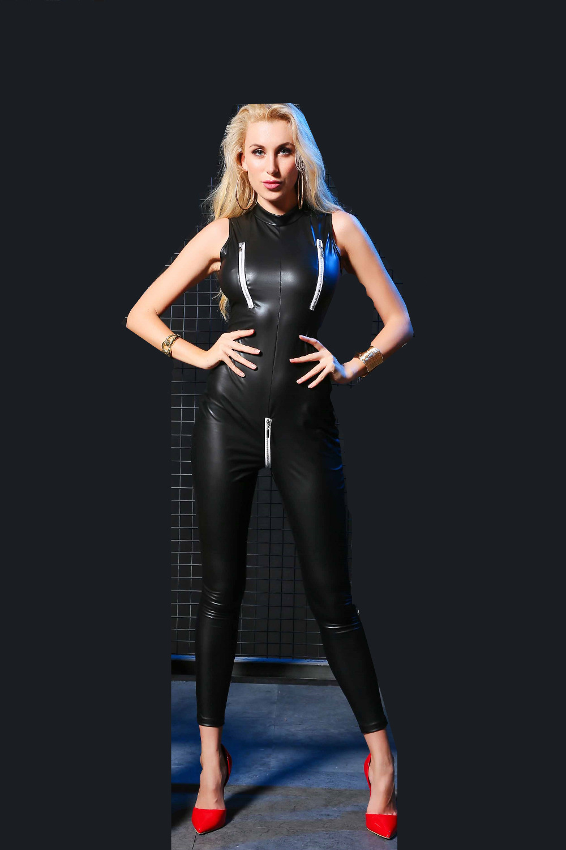 sexy leather latex lingerie plus size XXL sexy pu lenceria