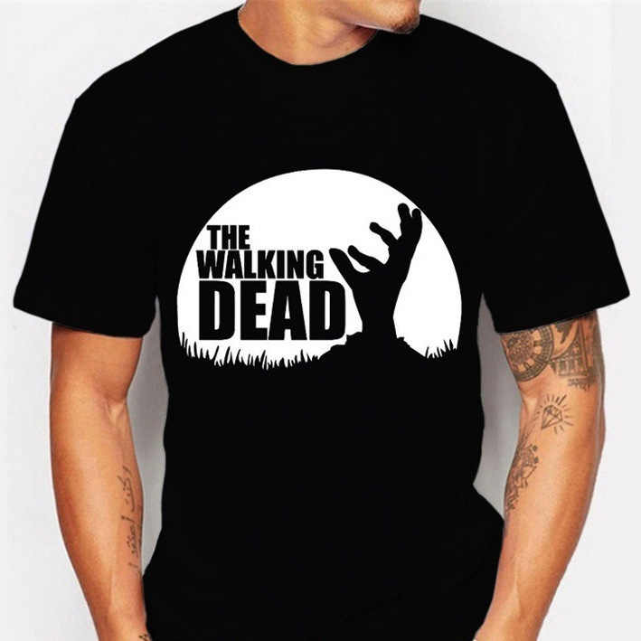 ホット販売ウォーキング · デッド Printes Tシャツ 2019 夏のファッションカジュアル半袖 O ネックメンズ tシャツ