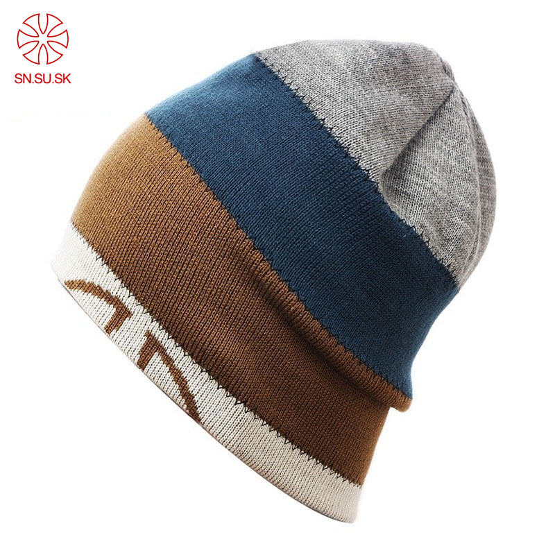 Men's Hats Unisex Winter Knitted Men Women Hats Skullies And Beanies Wire Caps Thermal Ski Hat Double-sided Cap Toucas De Inverno Gorros