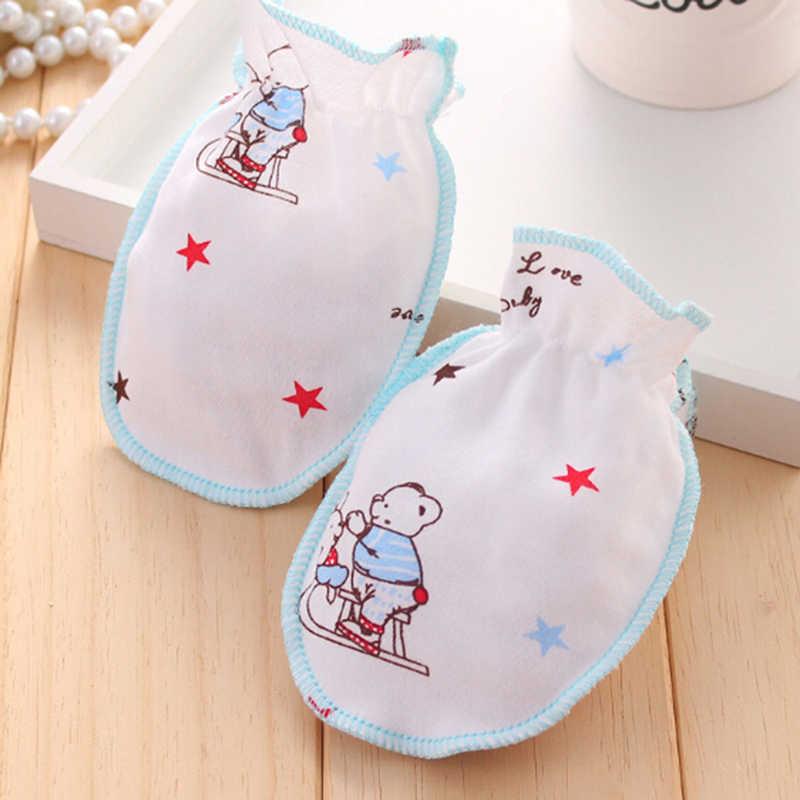 1 זוג כפפות תינוק רך כותנה תערובת אנטי שריטה פנים יד משמרות הגנת יילוד כפפות תינוק מקלחת מתנה עבור תינוק ילדה ילד