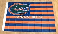 Florida Gators With Modified US Flag 3ft X 5ft Polyester NCAA Pirates Banner Flying Size No