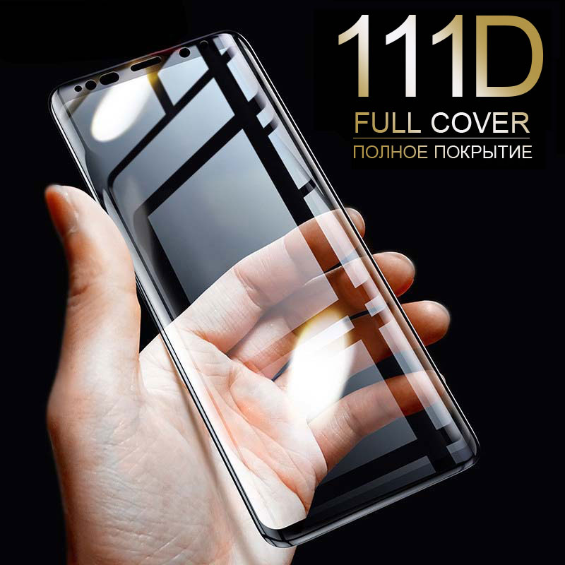 111D Full Curved Tempered Glass For Samsung Galaxy S9 S8 Plus Note 9 8 Screen Protector On Samsung S7 S6 Edge S9 Protective Film