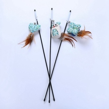 Interactive Pet Cat Toys Teaser Wand Toy Floral Catnip Bag Stick Play Funny Kitten Supply Y