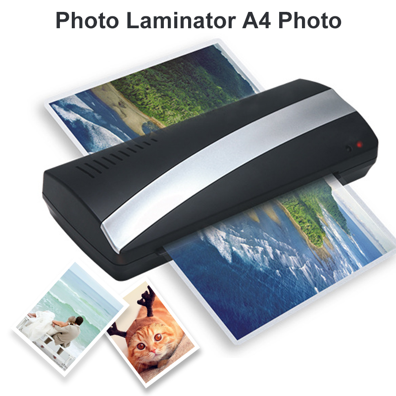 A4 Photo Laminator Paper Film Document Thermal Hot 250mm/Min 160 Degree Fashion Convenient File Office Photo Laminating Machine cewaal new design a4 photo laminator document hot
