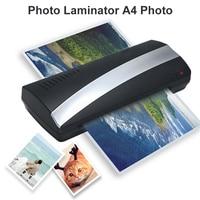 A4 Photo Laminator Paper Film Document Thermal Hot 250mm/Min 160 Degree Fashion Convenient File Office Photo Laminating Machine