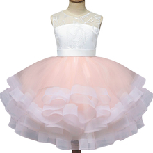 Pretty bowtie Satin Flower Girls Dresses white & black Lace 2018 Beaded Appliqued For Kids Prom girls
