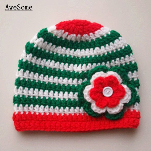Red Green Striped Christmas Hat 946d5306651