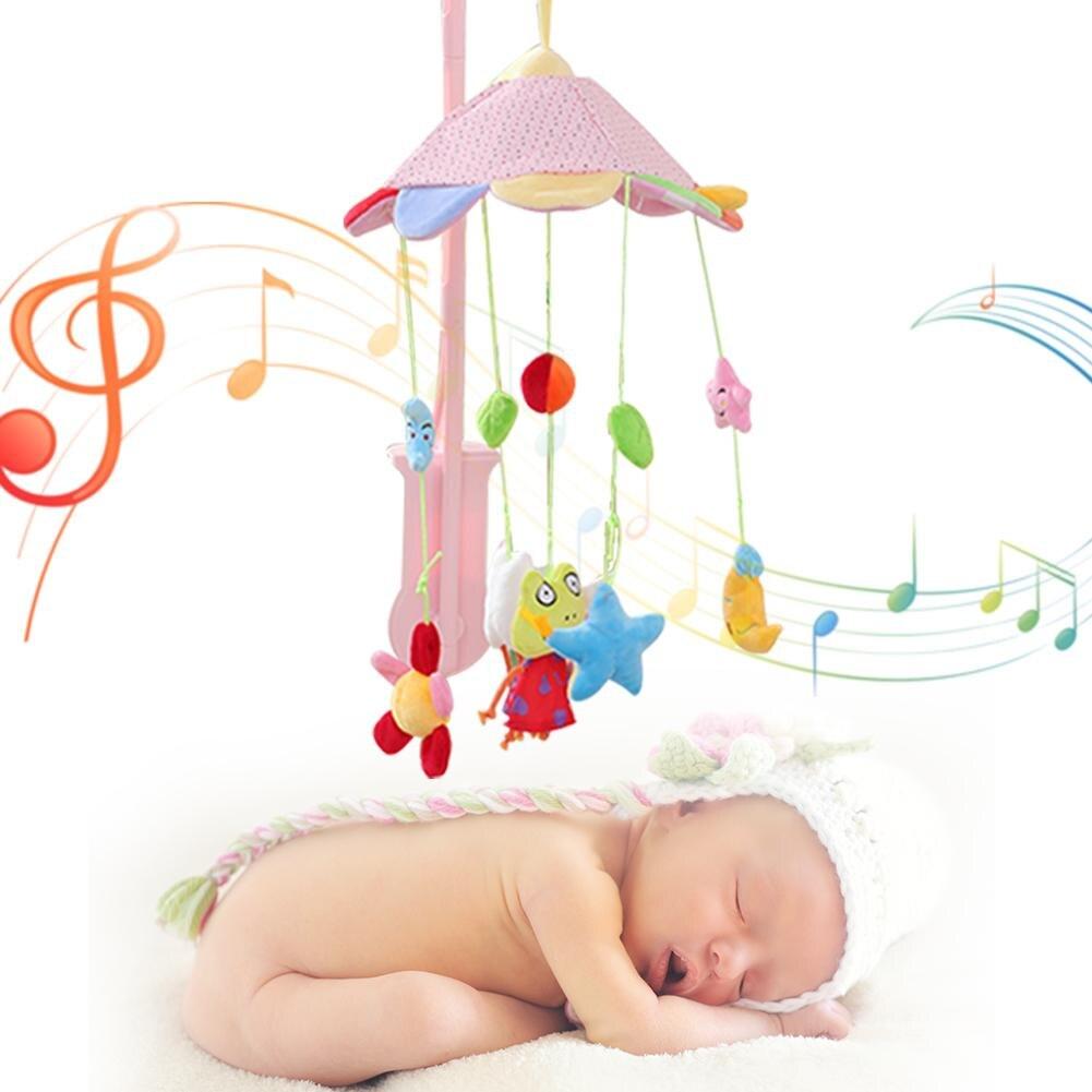 Детский животный Тип колокол музыка вращающаяся плюшевая игрушка висящая над кроватью детские постельные принадлежности кроватка вихрева