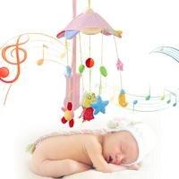 Baby Animal Type Bell Music Rotating Plush Bed Hanging Toy Baby Bedding Crib Whirling Hanging Stroller Around Bumper Toys