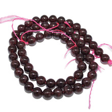 Garnet 3 4 5 6 7 8 9 10 11mm Natural Stone Dark Red Round Beads For DIY Necklace Bracelet Jewelry Accessories