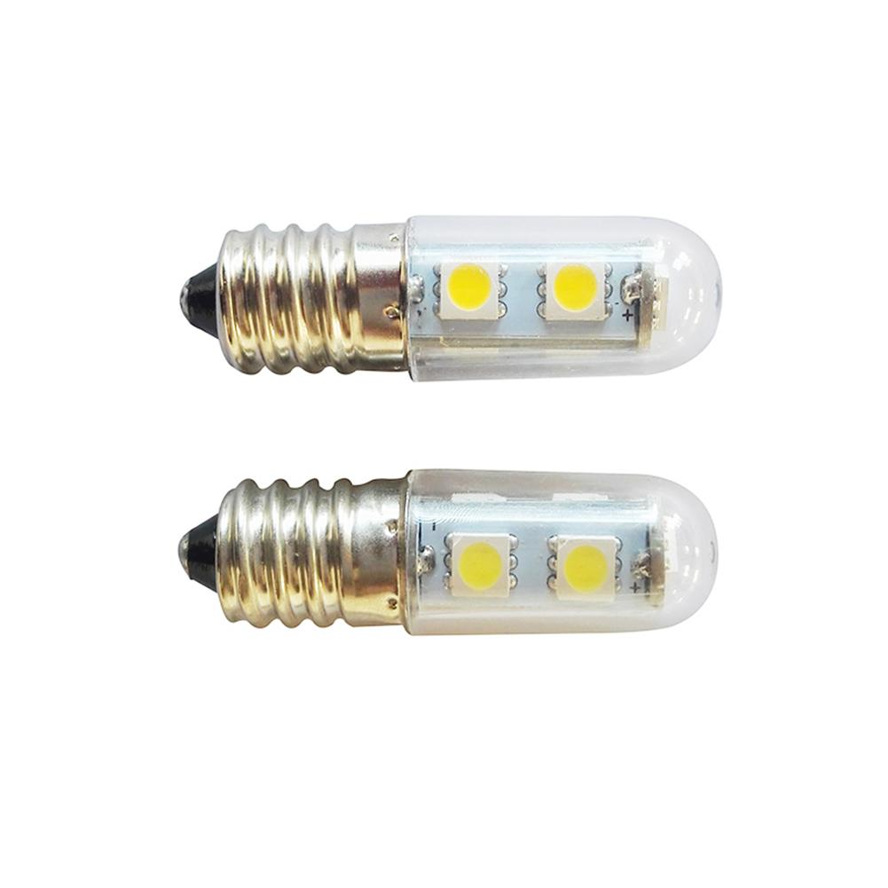 E14 Screw LED Refrigerator Lamp Sewing Machine Lamp 5050 1.5W Energy-Saving Bulb Transparent Cover 220V