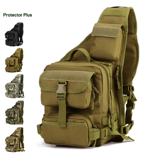 Man Crossbody Bag Army Tactical Chest Pack Military Shoulder Bags Single Shoulder Backpack Outdoor Sports Ride Bicycle Bag tactical outdoor double shoulder backpack bag army green