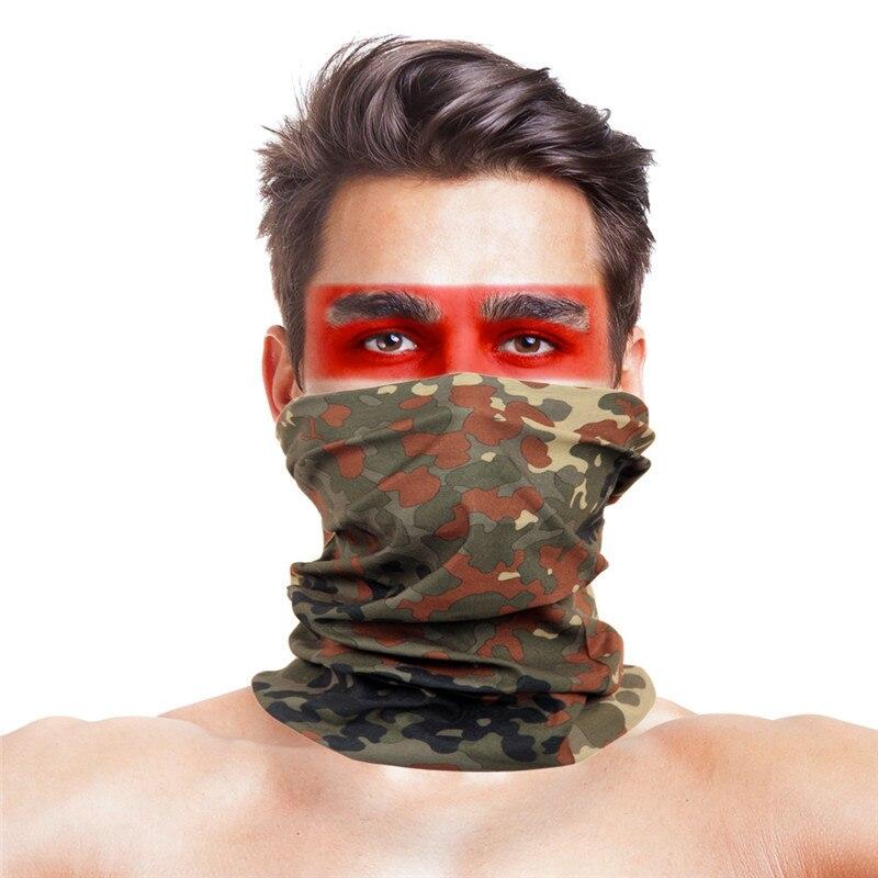 Cycling Bandana Buffe Summer New Camouflage Running Scarf Camo Tactical Face Mask Riding Hiking Wristband Headband Tube Kerchief