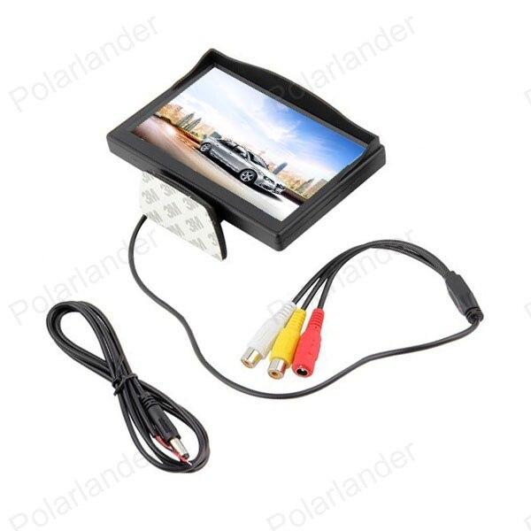 Auto monitor kleine display 5 zoll TFT farbe digital lcd für DVD fahrzeug umkehr einparkhilfe backup rückansicht kamera