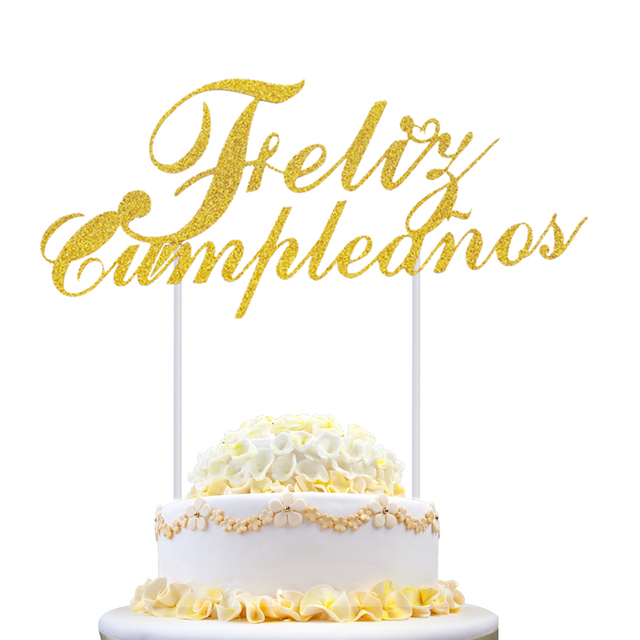 Feliz Cumpleanos Cupcake Cake Topper Happy Birthday In Spanish Cake