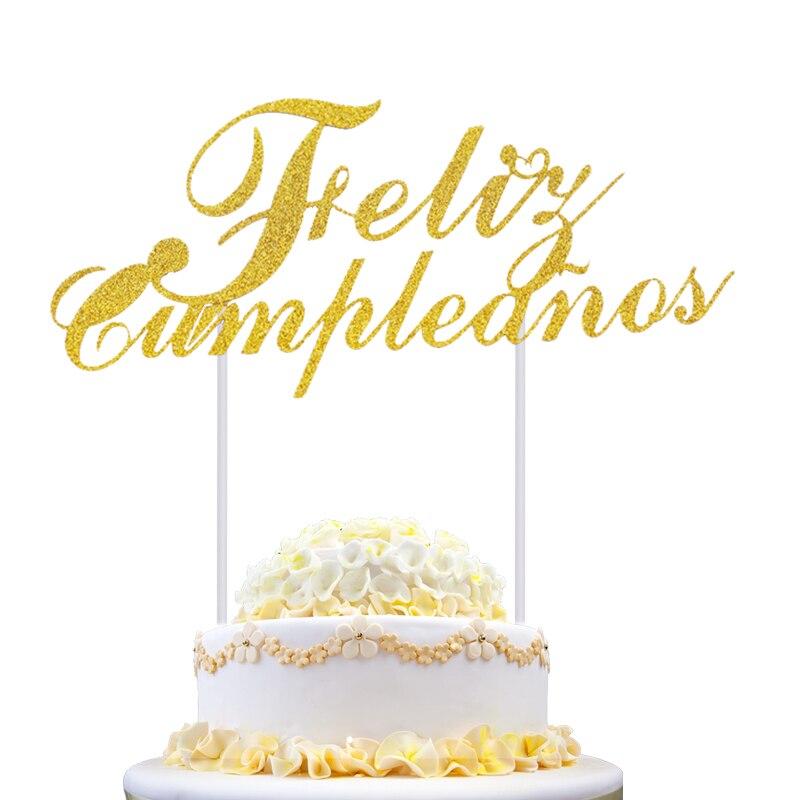 Feliz Cumpleanos Cupcake Cake Topper Torta di Buon compleanno in