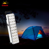 Wholesale Emergency LED light flashlight mini 30 LED Rechargeable Emergency Light Lamp 2 Mode for Home camp outdoor