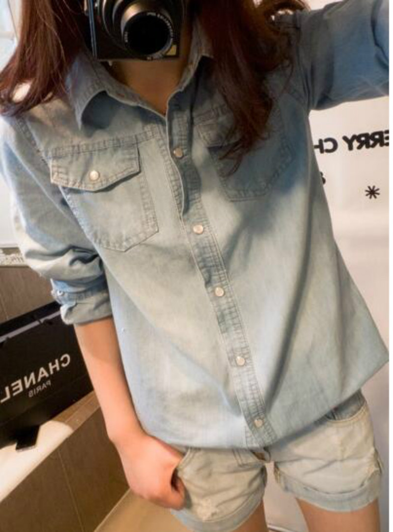 Spirio Men Autumn Jeans Pockets Button Up Classic Vintage Trucker Jackets