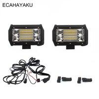ECAHAYAKU 5INCH 72W LED WORK LIGHT BAR FLOOD BEAM LED BAR LIGHT 12V 24V FOR CAR