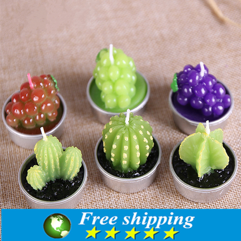 rare simulation plant candle mini cactus candles home decor table tea light garden decorative candlesfree shipping from reliable candle tea light - Decorative Candles