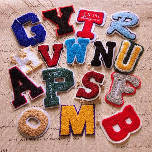 Us 687 6 Stukpartij Handdoeken Geborduurd Doek Stof Patch Stickers Kleding Trui Diy Decoratie Applique Engels Letters Kant In 6 Stukpartij
