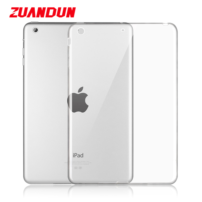 ZUANDUN Shockproof Case For iPad Air 1 Silicone Case Coque Soft Transparent TPU Full Protection Cover For iPad Air Tablets Cases ctrinews for ipad air 1 case clear transparent soft tpu silicone back case for apple ipad 5 air 1 tablet pc protective cover