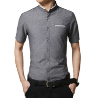 Bolubao Men Casual Shirt Fashion Summer Cotton Short Sleeve Tuxedo Shirts Business Mens Dress Shirt Camisa