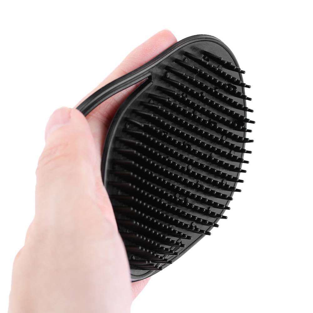 1 PCS Shampoo Comb Pocket Men Beard Mustache Palm Scalp Massage Black Hair Care Travel Portable Hair Comb Brush Styling Tools 3
