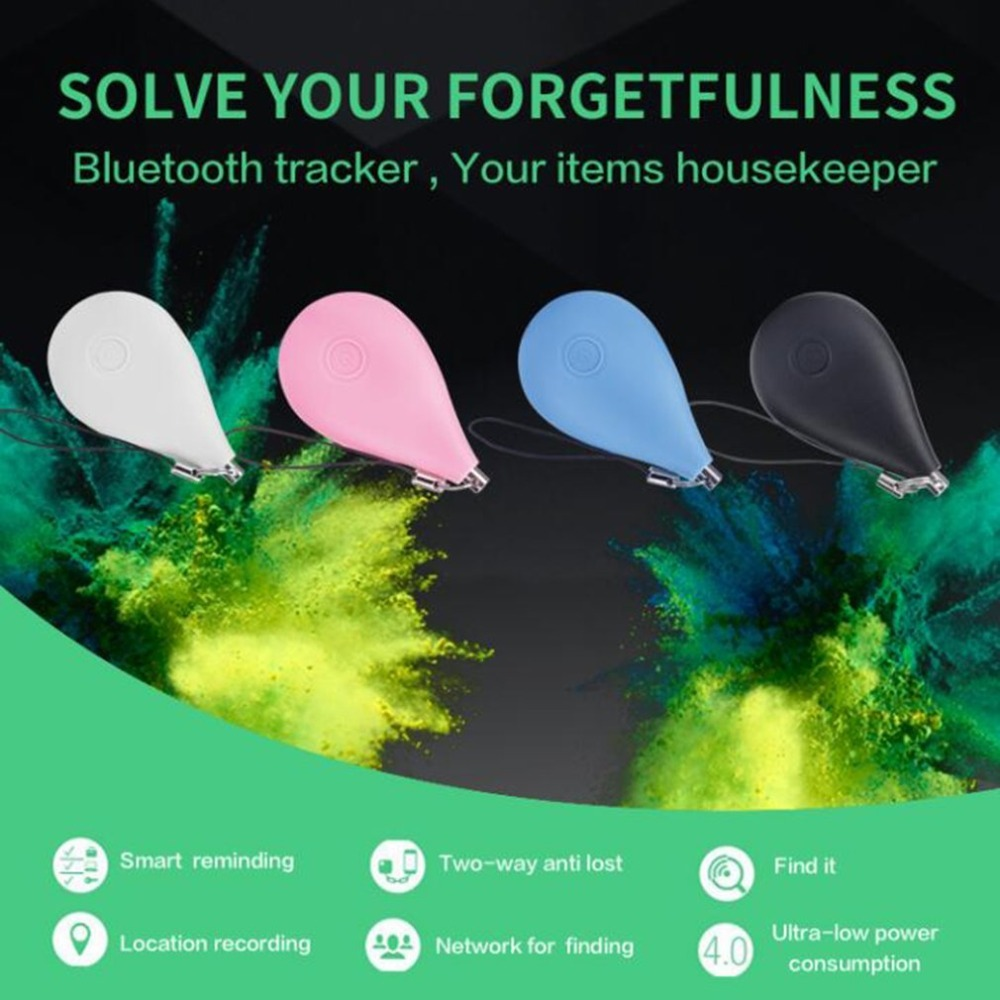 F50 Mini Bluetooth 4.0 Tracer Locator Tag Smart Waterdrop Shape Alarm Key Pet Dog Car Anti Lost Phone Map Tracker new safurance pet dog anti lost tracker smart bluetooth tracer locator tag alarm tracer finder alarm key chain